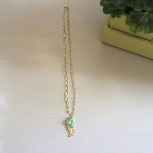 Spartina | Triple Flower Turquoise Gold Necklace